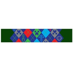 Minecraft Ugly Holiday Christmas Green Background Flano Scarf (large) by Onesevenart