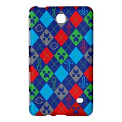 Minecraft Ugly Holiday Christmas Red Background Samsung Galaxy Tab 4 (8 ) Hardshell Case  by Onesevenart
