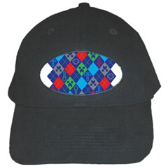 Minecraft Ugly Holiday Christmas Black Cap by Onesevenart