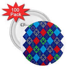 Minecraft Ugly Holiday Christmas 2 25  Buttons (100 Pack)  by Onesevenart