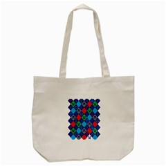 Minecraft Ugly Holiday Christmas Tote Bag (cream) by Onesevenart