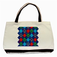 Minecraft Ugly Holiday Christmas Basic Tote Bag by Onesevenart