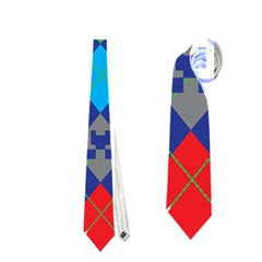 Minecraft Ugly Holiday Christmas Neckties (two Side)  by Onesevenart
