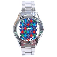 Minecraft Ugly Holiday Christmas Stainless Steel Analogue Watch by Onesevenart