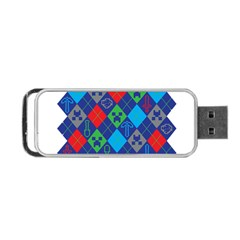 Minecraft Ugly Holiday Christmas Portable USB Flash (Two Sides) by Onesevenart