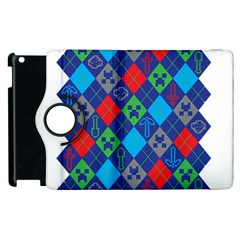 Minecraft Ugly Holiday Christmas Apple Ipad 2 Flip 360 Case by Onesevenart