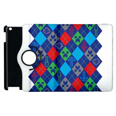 Minecraft Ugly Holiday Christmas Apple Ipad 3/4 Flip 360 Case by Onesevenart