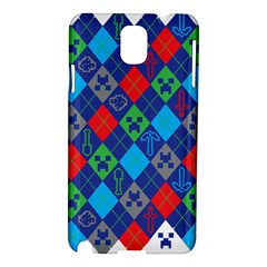 Minecraft Ugly Holiday Christmas Samsung Galaxy Note 3 N9005 Hardshell Case by Onesevenart