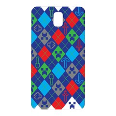Minecraft Ugly Holiday Christmas Samsung Galaxy Note 3 N9005 Hardshell Back Case by Onesevenart