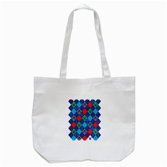 Minecraft Ugly Holiday Christmas Tote Bag (white) by Onesevenart