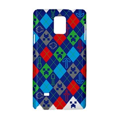 Minecraft Ugly Holiday Christmas Samsung Galaxy Note 4 Hardshell Case by Onesevenart