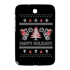 Motorcycle Santa Happy Holidays Ugly Christmas Black Background Samsung Galaxy Note 8 0 N5100 Hardshell Case  by Onesevenart