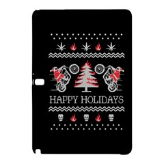 Motorcycle Santa Happy Holidays Ugly Christmas Black Background Samsung Galaxy Tab Pro 10 1 Hardshell Case by Onesevenart