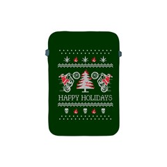 Motorcycle Santa Happy Holidays Ugly Christmas Green Background Apple Ipad Mini Protective Soft Cases by Onesevenart