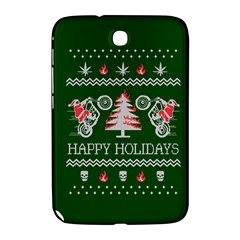 Motorcycle Santa Happy Holidays Ugly Christmas Green Background Samsung Galaxy Note 8 0 N5100 Hardshell Case  by Onesevenart