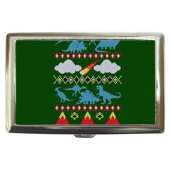 My Grandma Likes Dinosaurs Ugly Holiday Christmas Green Background Cigarette Money Cases