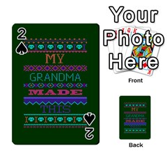 My Grandma Made This Ugly Holiday Green Background Playing Cards 54 Designs  by Onesevenart