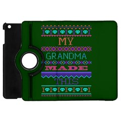 My Grandma Made This Ugly Holiday Green Background Apple Ipad Mini Flip 360 Case by Onesevenart