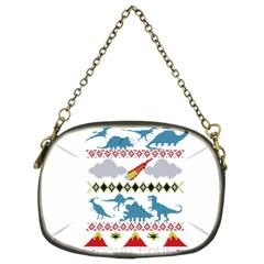 My Grandma Likes Dinosaurs Ugly Holiday Christmas Chain Purses (Two Sides)  by Onesevenart