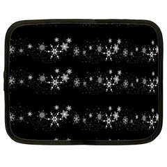 Black Elegant  Xmas Design Netbook Case (large) by Valentinaart