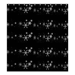 Black Elegant  Xmas Design Shower Curtain 66  X 72  (large)  by Valentinaart