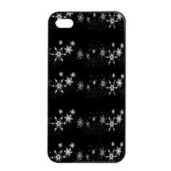 Black Elegant  Xmas Design Apple Iphone 4/4s Seamless Case (black) by Valentinaart