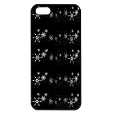 Black Elegant  Xmas Design Apple Iphone 5 Seamless Case (black) by Valentinaart