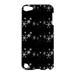 Black Elegant  Xmas Design Apple Ipod Touch 5 Hardshell Case by Valentinaart