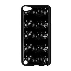 Black Elegant  Xmas Design Apple Ipod Touch 5 Case (black) by Valentinaart