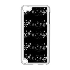 Black Elegant  Xmas Design Apple Ipod Touch 5 Case (white) by Valentinaart