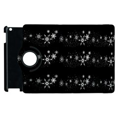 Black Elegant  Xmas Design Apple Ipad 3/4 Flip 360 Case by Valentinaart