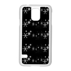 Black Elegant  Xmas Design Samsung Galaxy S5 Case (white) by Valentinaart