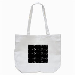Black Elegant  Xmas Design Tote Bag (white) by Valentinaart