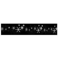 Black Elegant  Xmas Design Flano Scarf (small) by Valentinaart