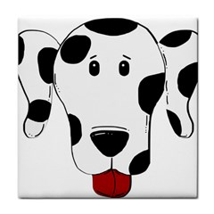 Dalmation cartoon head Tile Coasters by TailWags