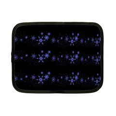 Xmas Elegant Blue Snowflakes Netbook Case (small)  by Valentinaart