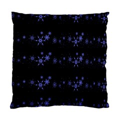 Xmas Elegant Blue Snowflakes Standard Cushion Case (one Side) by Valentinaart