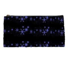 Xmas Elegant Blue Snowflakes Pencil Cases by Valentinaart
