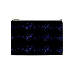 Xmas Elegant Blue Snowflakes Cosmetic Bag (medium)  by Valentinaart