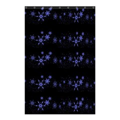 Xmas Elegant Blue Snowflakes Shower Curtain 48  X 72  (small)  by Valentinaart