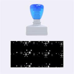 Xmas Elegant Blue Snowflakes Rubber Stamps (medium)  by Valentinaart