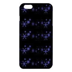 Xmas Elegant Blue Snowflakes Iphone 6 Plus/6s Plus Tpu Case by Valentinaart