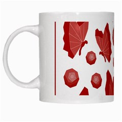 Butterfly White Mugs