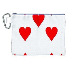 Cart Heart 07 Sette Cuori Canvas Cosmetic Bag (xxl) by AnjaniArt