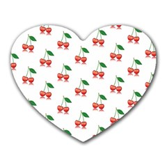 Cerry Fruite Red Heart Mousepads by AnjaniArt