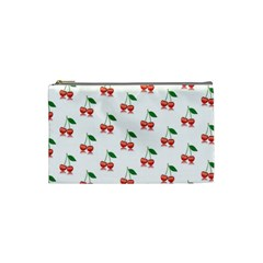Cerry Fruite Red Cosmetic Bag (small)  by AnjaniArt