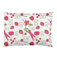 Eat Pattern Tomato Cerry Friute Pillow Case (two Sides) by AnjaniArt