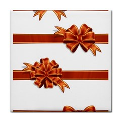 Gift Ribbons Tile Coasters