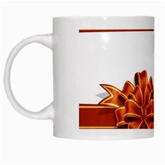 Gift Ribbons White Mugs