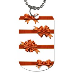 Gift Ribbons Dog Tag (two Sides) by AnjaniArt